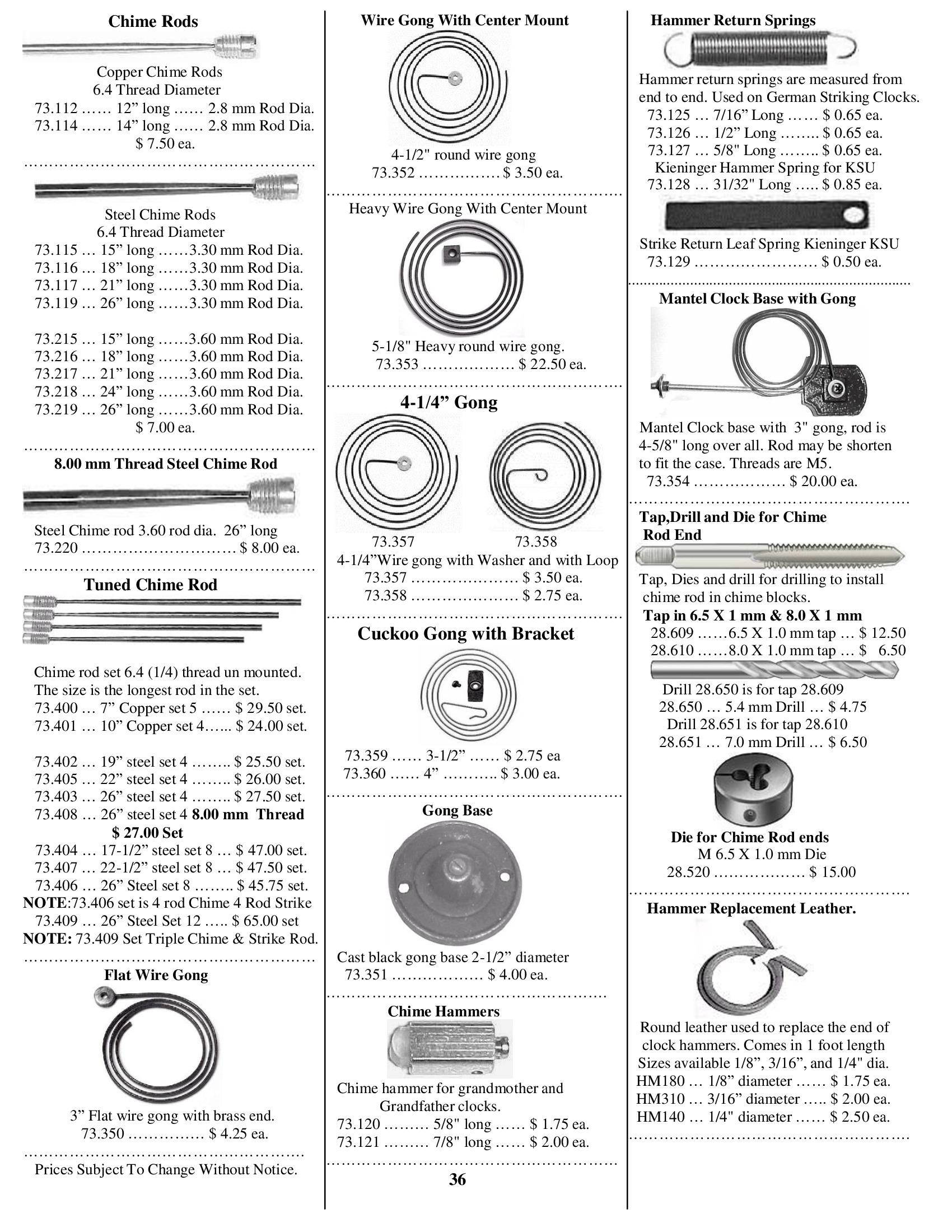 Mile Hi Clock Supplies - Keystone Tools